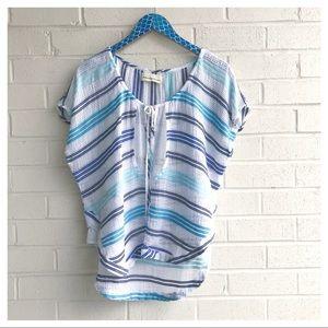 Love Sam Cotton Stripe Boho Beach Cover Tunic